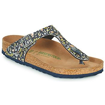 Cipők Női Lábujjközös papucsok Birkenstock GIZEH Kék