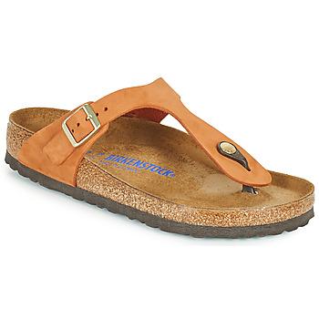 Cipők Női Lábujjközös papucsok Birkenstock GIZEH SFB Narancssárga