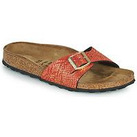 Cipők Női Papucsok Birkenstock MADRID Piros / Arany