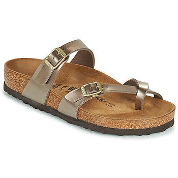 Cipők Női Papucsok Birkenstock MAYARI Arany