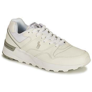 Cipők Férfi Rövid szárú edzőcipők Polo Ralph Lauren TRCKSTR PONY-SNEAKERS-ATHLETIC SHOE Fehér
