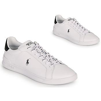 Cipők Férfi Rövid szárú edzőcipők Polo Ralph Lauren HRT CT II-SNEAKERS-ATHLETIC SHOE Fehér / Fekete