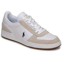 Cipők Férfi Rövid szárú edzőcipők Polo Ralph Lauren POLO CRT PP-SNEAKERS-ATHLETIC SHOE Fehér