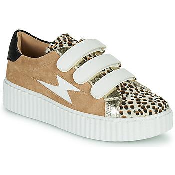 Cipők Női Rövid szárú edzőcipők Vanessa Wu BK2206LP Bézs / Leopárd