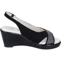 Cipők Női Szandálok / Saruk Adriana Del Nista Sandali Camoscio Strass Nero
