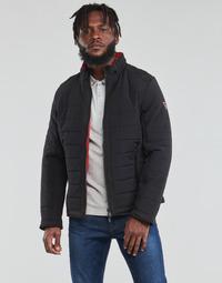 Ruhák Férfi Steppelt kabátok Guess  Fekete  / Narancssárga