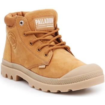 Cipők Női Csizmák Palladium Manufacture Pampa Cuff Lea Barna