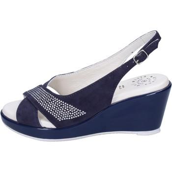 Cipők Női Szandálok / Saruk Adriana Del Nista Sandali Camoscio Strass Blu