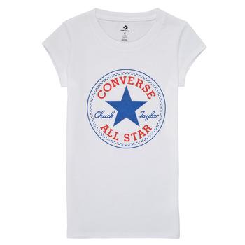 Ruhák Lány Rövid ujjú pólók Converse TIMELESS CHUCK PATCH TEE Fehér