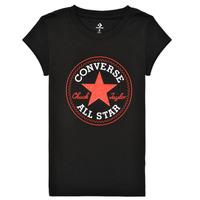 Ruhák Lány Rövid ujjú pólók Converse TIMELESS CHUCK PATCH TEE Fekete
