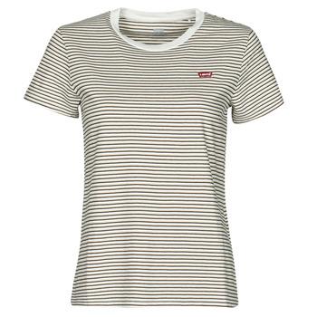 Ruhák Női Rövid ujjú pólók Levi's PERFECT TEE Bézs