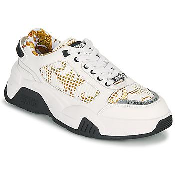 Cipők Férfi Rövid szárú edzőcipők Versace Jeans Couture HATINA Fehér / Arany