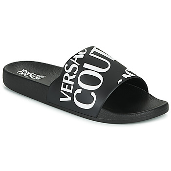 Cipők Férfi strandpapucsok Versace Jeans Couture TENNIA Fekete  / Fehér