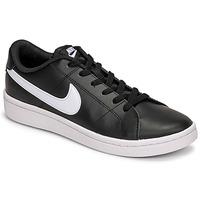 Cipők Férfi Rövid szárú edzőcipők Nike COURT ROYALE 2 LOW Fekete  / Fehér