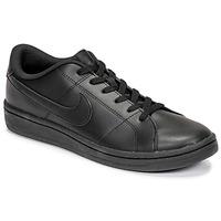 Cipők Férfi Rövid szárú edzőcipők Nike COURT ROYALE 2 LOW Fekete