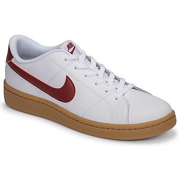 Cipők Férfi Rövid szárú edzőcipők Nike COURT ROYALE 2 LOW Fehér / Piros