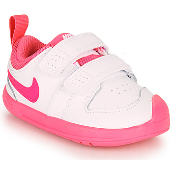 Cipők Lány Rövid szárú edzőcipők Nike PICO 5 TD Fehér / Rózsaszín