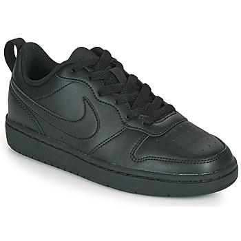 Cipők Gyerek Rövid szárú edzőcipők Nike COURT BOROUGH LOW 2 GS Fekete