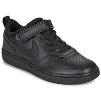 Cipők Gyerek Rövid szárú edzőcipők Nike COURT BOROUGH LOW 2 PS Fekete