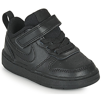 Cipők Gyerek Rövid szárú edzőcipők Nike COURT BOROUGH LOW 2 TD Fekete
