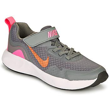 Cipők Lány Multisport Nike WEARALLDAY PS Szürke / Rózsaszín
