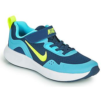 Cipők Fiú Multisport Nike WEARALLDAY PS Kék / Zöld
