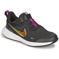 Cipők Lány Rövid szárú edzőcipők Nike REVOLUTION 5 SE PS Fekete