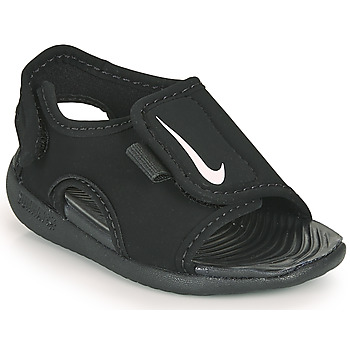 Cipők Gyerek strandpapucsok Nike SUNRAY ADJUST 5 V2 TD Fekete