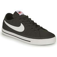 Cipők Férfi Rövid szárú edzőcipők Nike NIKE COURT LEGACY CANVAS Fekete  / Fehér