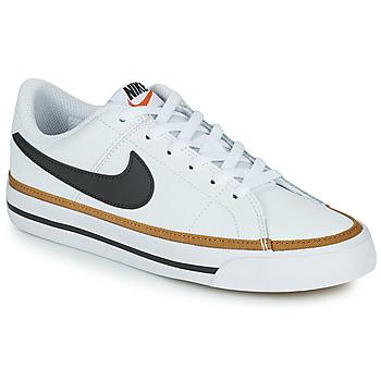 Cipők Gyerek Rövid szárú edzőcipők Nike NIKE COURT LEGACY Fehér / Fekete