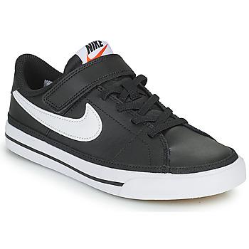 Cipők Gyerek Rövid szárú edzőcipők Nike NIKE COURT LEGACY Fekete  / Fehér