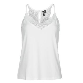 Ruhák Női Trikók / Ujjatlan pólók Vero Moda VMANA Fehér
