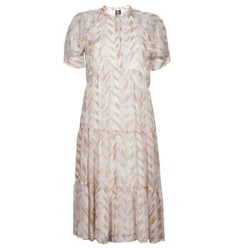 Ruhák Női Hosszú ruhák Vero Moda VMKATHRINE Bézs