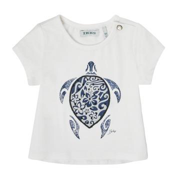 Ruhák Lány Rövid ujjú pólók Ikks XS10070-19 Fehér
