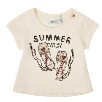 Ruhák Lány Rövid ujjú pólók Ikks XS10090-11 Fehér