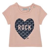 Ruhák Lány Rövid ujjú pólók Ikks XS10120-31 Rózsaszín