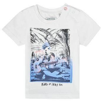 Ruhák Fiú Rövid ujjú pólók Ikks XS10051-19 Fehér