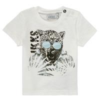 Ruhák Fiú Rövid ujjú pólók Ikks XS10161-19 Fehér