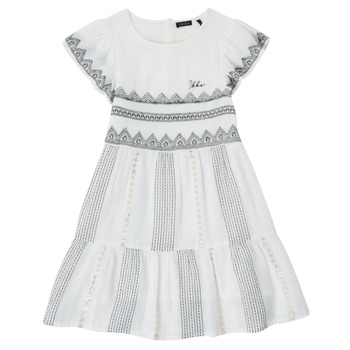 Ruhák Lány Rövid ruhák Ikks XS30012-11-J Fehér