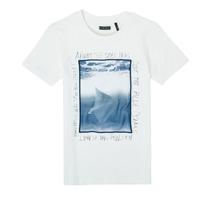 Ruhák Fiú Rövid ujjú pólók Ikks XS10033-19-J Fehér