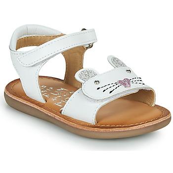 Cipők Lány Szandálok / Saruk Mod'8 CLOONIE Fehér