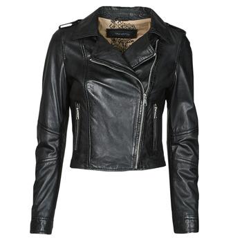 Ruhák Női Bőrkabátok / műbőr kabátok Oakwood ALIZEE Fekete