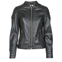 Ruhák Női Bőrkabátok / műbőr kabátok Oakwood ELLA Fekete