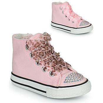 Cipők Lány Magas szárú edzőcipők Citrouille et Compagnie OUTIL Rózsaszín