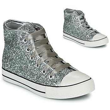 Cipők Lány Magas szárú edzőcipők Citrouille et Compagnie OUTIL Ezüst