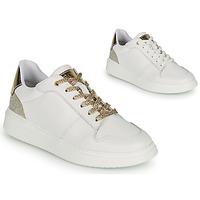 Cipők Lány Rövid szárú edzőcipők BOSS NILLA Fehér / Arany