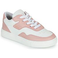 Cipők Lány Rövid szárú edzőcipők BOSS PAOLA Fehér / Rózsaszín