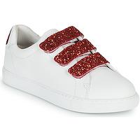 Cipők Női Rövid szárú edzőcipők Bons baisers de Paname EDITH BACK LIPS Fehér