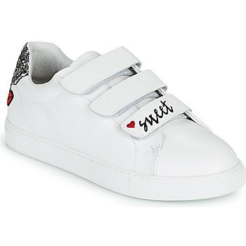 Cipők Női Rövid szárú edzőcipők Bons baisers de Paname EDITH SWEET HEART Fehér