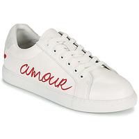 Cipők Női Rövid szárú edzőcipők Bons baisers de Paname SIMONE AMOUR Fehér